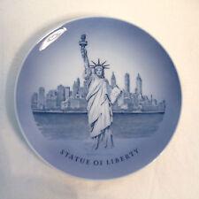 Vintage Royal Copenhagen Porcelain STATUE OF LIBERTY Souvenir Plate Blue