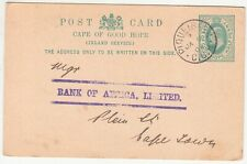 CGH: EDVII Postal Card; Piquetberg to Bank of Africa, Cape Town, 6-7 Jan 1904