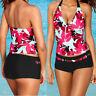 Women Tankini Bikini Sets With Boy Shorts Beachwear Swimwear Two Piece Swimsuits