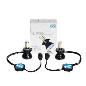 "H4  HID SMD COB LED Low/Hi Beam Headlight Light Bulb 6000K 4000LM PAIR 4X6"""