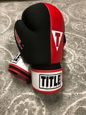 Title Gel Enforced Size Large Red Black Boxing MMA Gloves With Wrist Wraps New