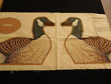 Vintage Canada Goose Cotton Fabric Craft Pillow Panel