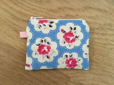 Mini Coin Purse  - Cath Kidston Electric Blue Provence Rose Fabric (11x9cm)