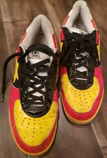 A BATHING APE BAPE STA FOOT SOLDIER FS-001 SNEAKERS Red /Yellow/Black Size 12