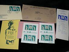 Vintage Stamps Fiji Queen Elizabeth Australia First Day Issue Set 4 per sheet