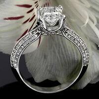 2.06 CT PRINCESS CUT DIAMOND ENGAGEMENT RING 14K WHITE GOLD