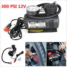 Portable 12V 300 PSI Car Auto Air Compressor Tire Type Pump Inflator With Gauge