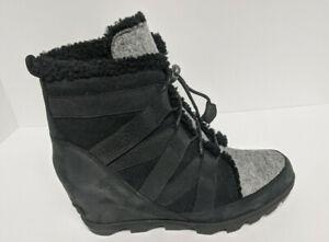 Sorel Joan of Arctic Wedge II Cozy Boots, Black Women's 11 M