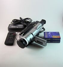 Sony Handycam DCR-TRV103 Digital-8 Camcorder Nightshot 2 Tapes Power Cord Remote