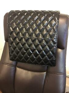 "14""x 30"" BLACK Recliner, leather damage, sofa, arm rest, furniture protector"