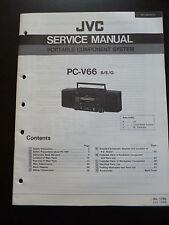 ORIGINALI service manual JVC PORTABLE COMPONENT SYSTEM pc-v66