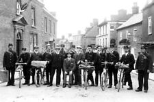 Ztr-53 Postal Staff with Bicycles, Wincanton, Somerset. Photo