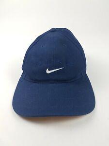Vintage 90s Nike Logo Spellout Strapback Dad hat Navy