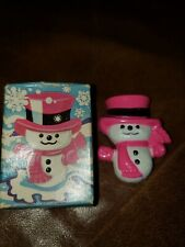 Vintage Avon Snowman Wee Willy Winter 1974 Pin Pal Fragrance Glacé