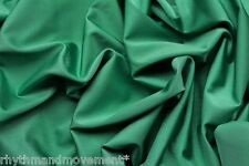 Dance Costume Lycra Forest Green Shiny Nylon Spandex 50cm - 150cm wide
