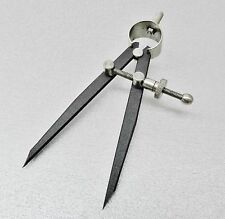 "5"" Spring Dividers Flat Leg Tool Gauge Distant Measuring Compass Design Layout"