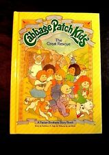 CABBAGE PATCH KIDS BOOK THE GREAT RESCUE 1984 PARKER BROTHERS HARDCOVER