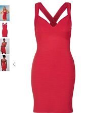 TOPSHOP BODYCON DRESS in Red,size Uk10/Us6/EUR38.BNWT