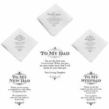 Father of the Bride Gift To My Dad Stepdad Wedding Handkerchief Hanky