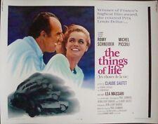 Les CHOSES DE LA VIE THINGS OF LIFE half sheet movie poster 22x28 ROMY SCHNEIDER