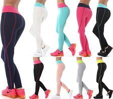 Damen-Leggings aus Baumwollmischung ohne Muster