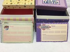 Mary Englebreit Recipe Boxes with Cards Never Used