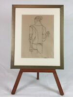 Original Augusto Marin Pen and Ink Drawing Puerto Rico Signed with COA