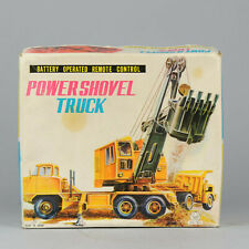 #Antique Tin Toy# Construction POWER SHOVEL TRUCK Japan Swallow Toys Ford