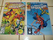 2-Lot The Amazing Spider-Man comics #'s 343 & 352 * Powerless tarantula scorpion