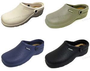 Men's Clogs Shoes Gardening Nursing Hospital Slip-on Casual Sandals, Sizes: 7-12