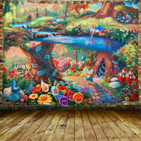 Hippie Colorful Flower Scenery Tapestry Wall Hanging Blanket Art Home Wall Decor