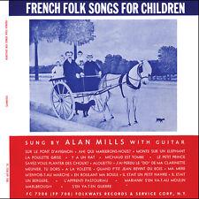 Alan Mills - French Folk Songs for Children [New CD]