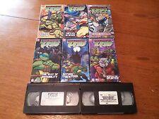 teenage mutant ninja turtles   lot of 8 vhs movies