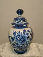 PORCELEYNE FLES - ROYAL DELFT LIDDED GINGER JAR - W/CERTIFICATE - BEAUTIFUL