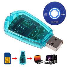 USB CELLPHONE SIM CARD READER SMS COPY/CLONER/WRITER/BACKUP GSM/CDMA+CD NEW