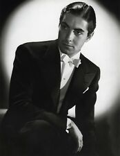 TYRONE POWER JR. 8x10 PICTURE HANDSOME ACTOR RARE PHOTO