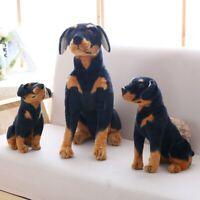 Simulation Rottweiler Dog Plush Toy Stuffed Soft Animal Doggy Dolls Kids Gifts