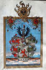 KAISERIN Maria Theresia ADELSBRIEF Austria ÖSTERREICH nobility SIEGEL militär