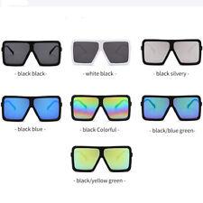 Square Flat Top Large Sunglasses Big Oversized Frame Dazzle Unisex Glasses New