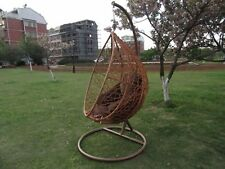 PE Rattan Outdoor Free Standing Hanging Egg Swing Chair