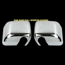 For JEEP Wrangler 2007-2012 2013 2014 2015 2PC Chrome Full Mirror Mirrors Covers