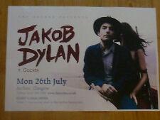 Jakob Dylan - Glasgow july 2010 tour concert gig poster