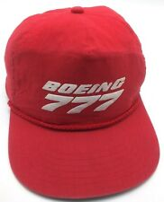 BOEING 777 vintage red adjustable cap / hat