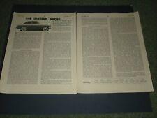 SUNBEAM RAPIER MK 1 SALOON KENLOWE   REPORT MOTORSPORT SEPT 1956