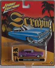 Johnny Lightning -'58/1958 Chevy Impala custom violet/lilas Nouveau/OVP