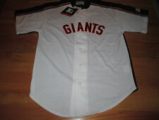 Starter SAN FRANCISCO GIANTS Button-Down Baseball (MED) Jersey w/ Tags WHITE BLK