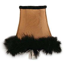 Home Interior Shabby Chic Brown/Black Fur trim Night Light