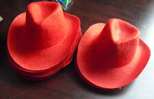 Lot of 8 New Old Stock Red Cowboy Hats for Dolls