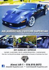 2011 Alessi AR-1 Supercar -   Classic Car Advertisement Print Ad J62