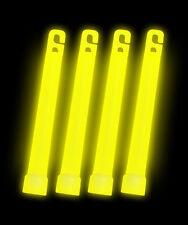 """500 6"""" YELLOW Glow Sticks 15mm Bulk Wholesale Pack w/ FREE 300 Glow Bracelets"""